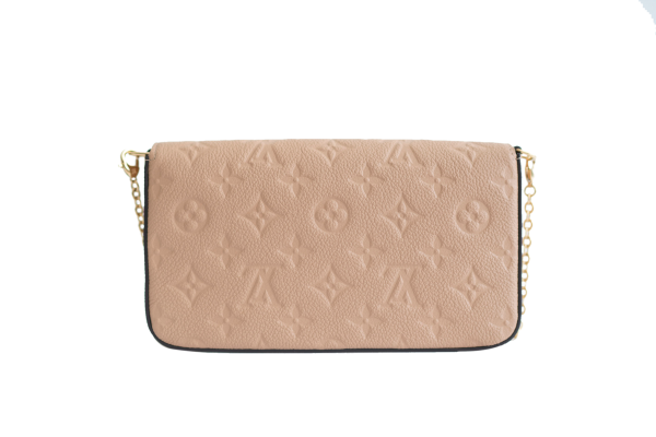 louis vuitton papyrus empreinte leather pochette felicie